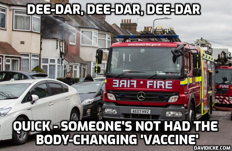 FIRE CREWS getting information from the NHS about people who have not had the DNA