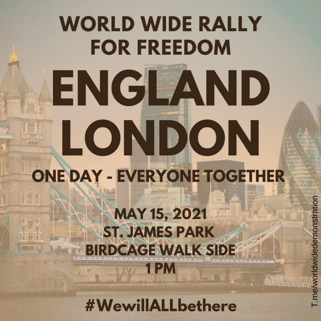 London Protest – This Saturday – 1pm